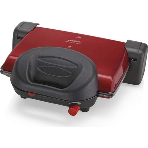 Arzum AR2012 Prego Granite Granit Plakalı Izgara ve Tost Mak Kırmızı/Gri