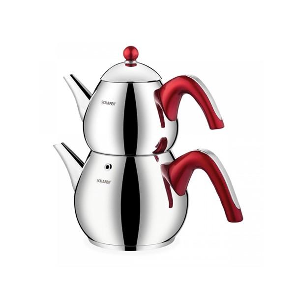 Schafer Tea Chef Çaydanlık Takımı Orta 4 Parça Kırmızı
