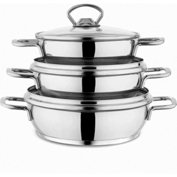 Schafer Cookhaus Çelik Sahan Seti 6 Parça Gümüş
