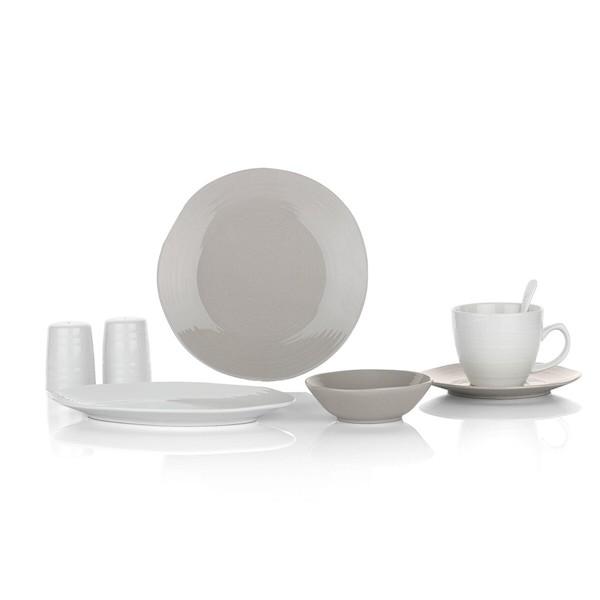 Schafer 1s064-02001-grı01 Bonn Kahvaltı Takımı 32 Prç. Gri