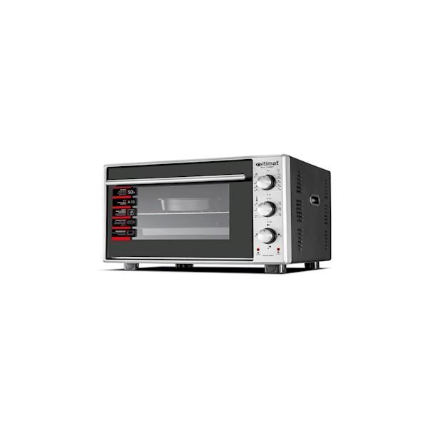İtimat 8022 Mini Fırın Çift Camlı (50 Lt) İnox