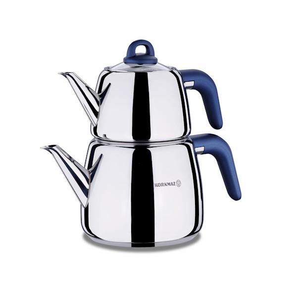 Korkmaz A045-02 Bella Azura Çaydanlık Takımı