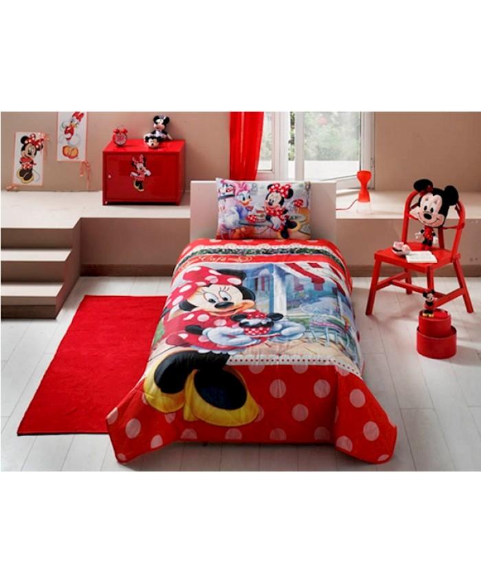 Taç 60109097 Lisanslı Yatak Örtüsü Seti Disney Minnie Tea Time <