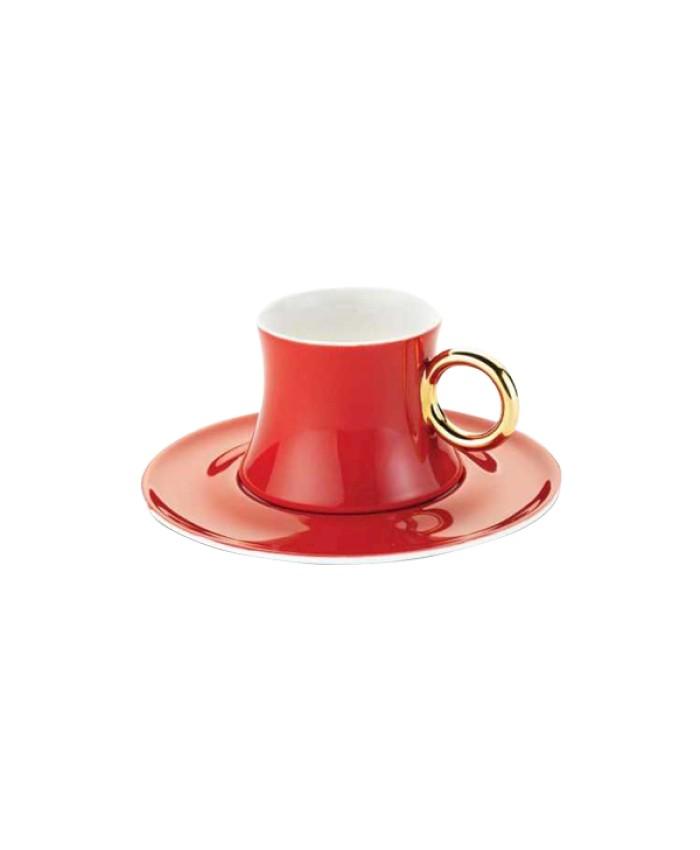 Korkmaz A8660 Freedom 6'lı Kahve Fincan Takımı Kırmızı