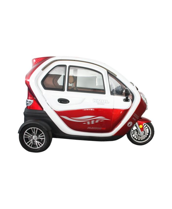 Kral KR-40 Kırmızı Grande-5 7000 3 Teker Elektrikli Otomobil