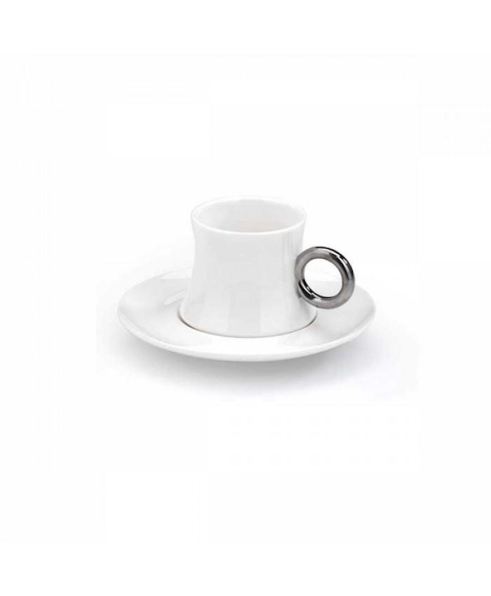 Korkmaz A8646 Freedom 6'lı Kahve Fincan Takımı Beyaz Platin