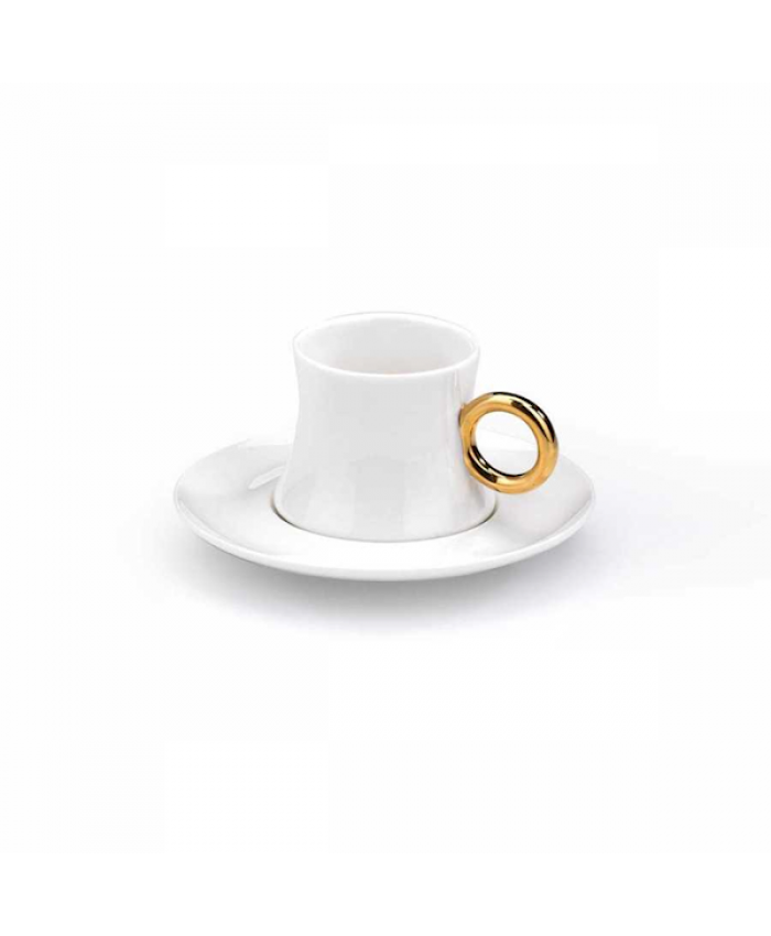 Korkmaz A8647 Freedom 6'lı Kahve Fincan Takımı Beyaz Gold
