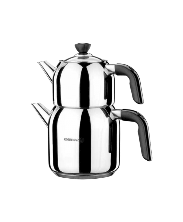 Korkmaz A078-01 Kappa Çaydanlık Takımı Siyah