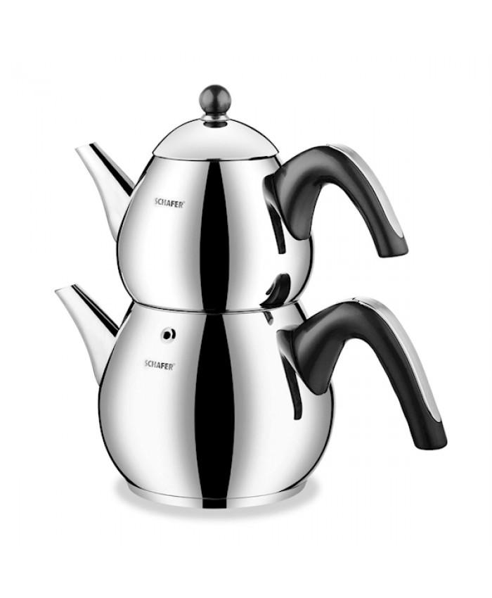 Schafer Tea Chef Çaydanlık Takımı Büyük 4 Parça Siyah