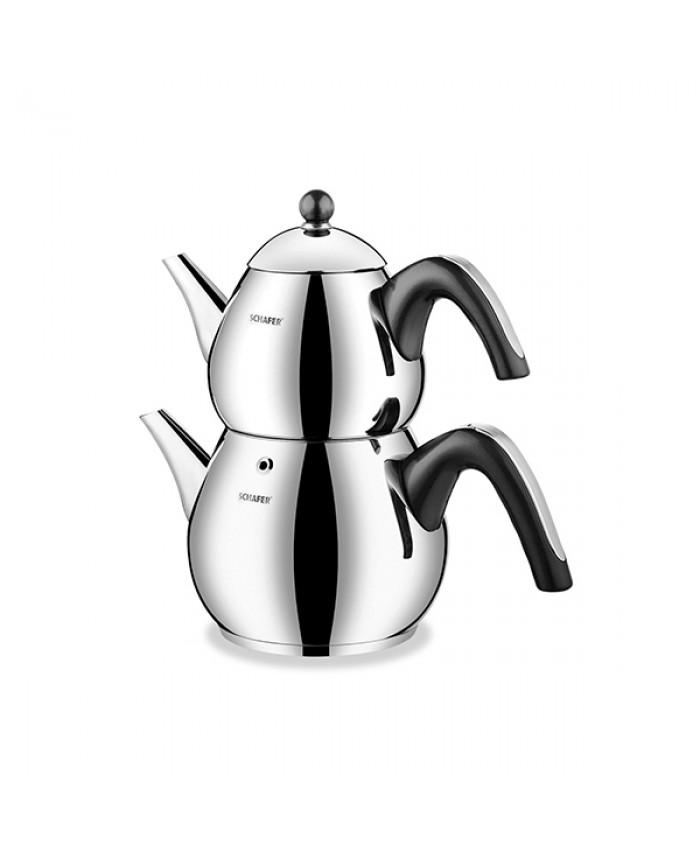 Schafer Tea Chef Çaydanlık Takımı Küçük 4 Parça Siyah