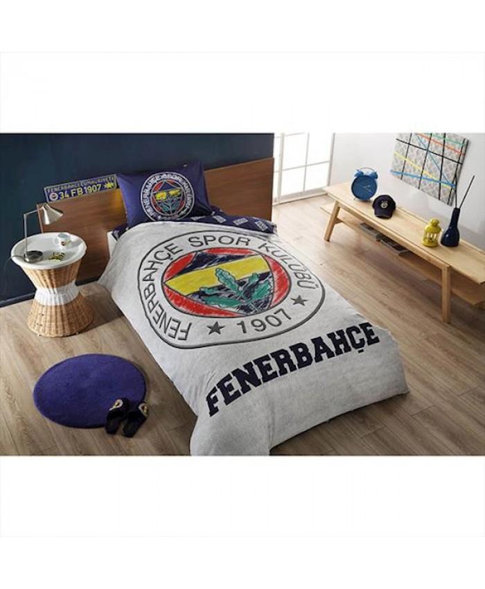 Taç 60183150 Lisanslı Nevresim Takımı Tek Kişilik Fenerbahçe Grey