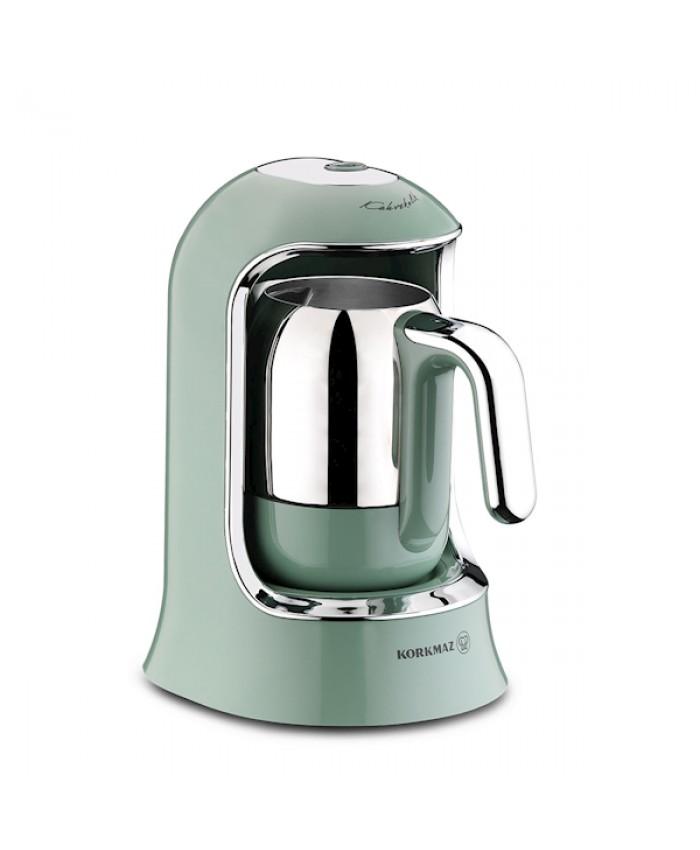 Korkmaz A860-04 Kahvekolik Otomatik Kahve Makinesi Turkuaz
