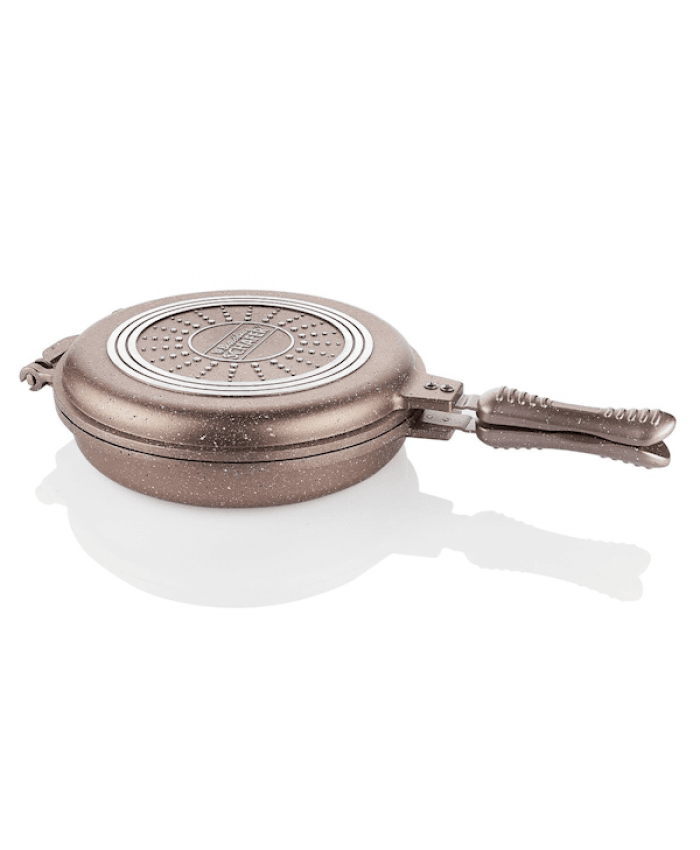 Schafer Yuvarlak Double Grill Pan 30 cm Rosegold
