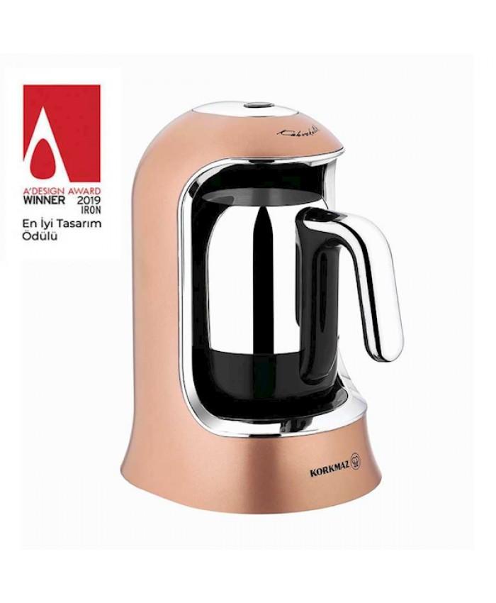 Korkmaz A860-06 Kahvekolik Otomatik Kahve Makinesi RoseGold