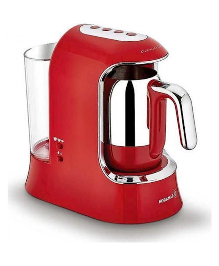 Korkmaz A862 Kahvekolik Auto Kahve Makinesi Kırmızı/krom
