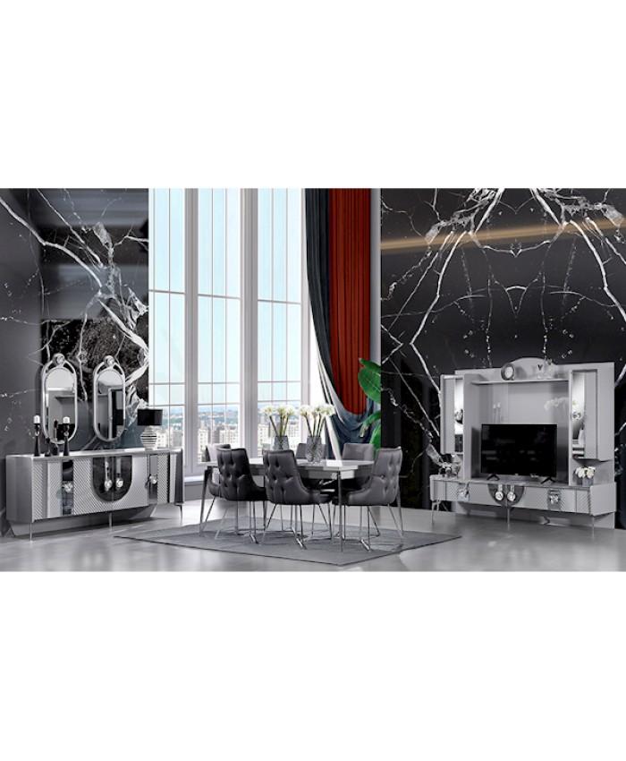 Vize Icon Yemek Odası Takımı Sandalyeli