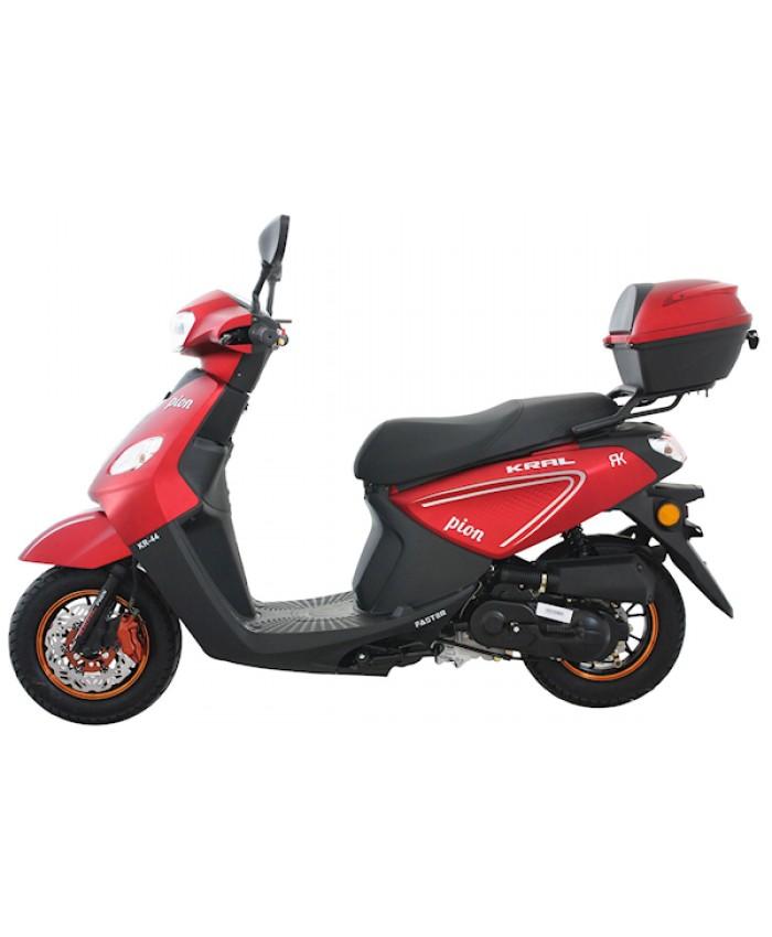 Kral Pion / Loyal Benzinli 50cc Scooter Kırmızı