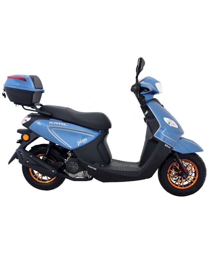 Kral Kr-44 Pion / Loyal Benzinli 50cc Scooter Mavi