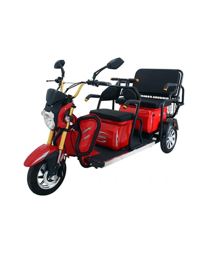 Kral Kr-53 Venetta Elektrikli Motorsiklet Kırımızı