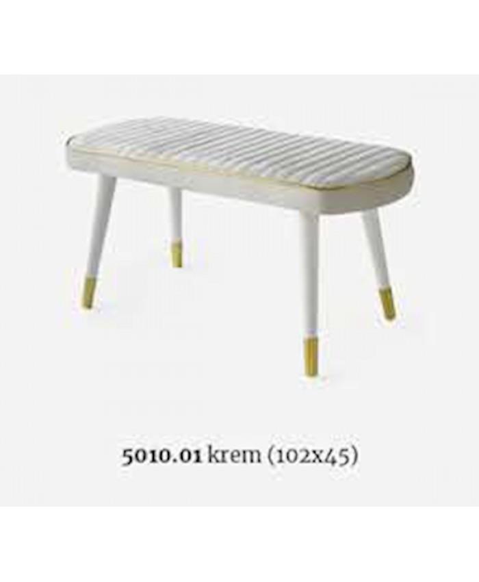 Selvi 5010.01 Göksu Bench Sırtsız (Aytaşı-Krem )